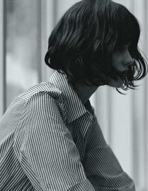 Wavy Short Bob Hairstyles for Girls