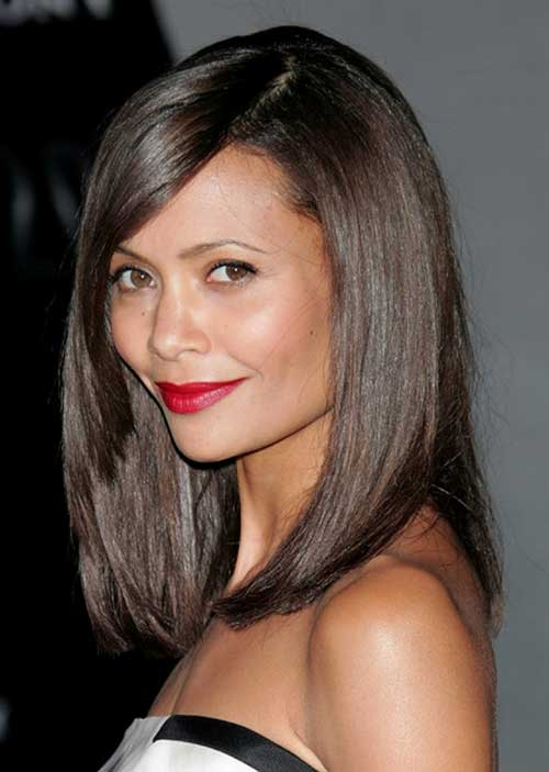Dark Side Parted Long Bob Hairstyles