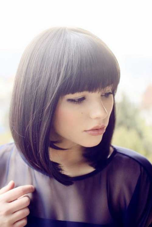 20 Bob Hair With Bangs Bob Haircut And Hairstyle Ideas