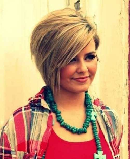 Trendy Short Hairstyle for Women Layered Bangs