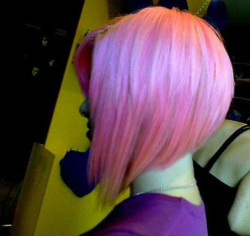 Pink Graduated Bob Hairstyles