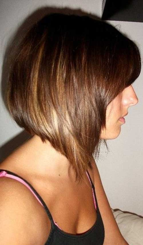 Graduated Bob Hairstyles with Inverted Bangs