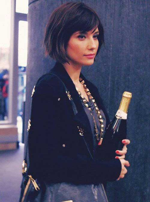 Bob Cut with Bangs Style