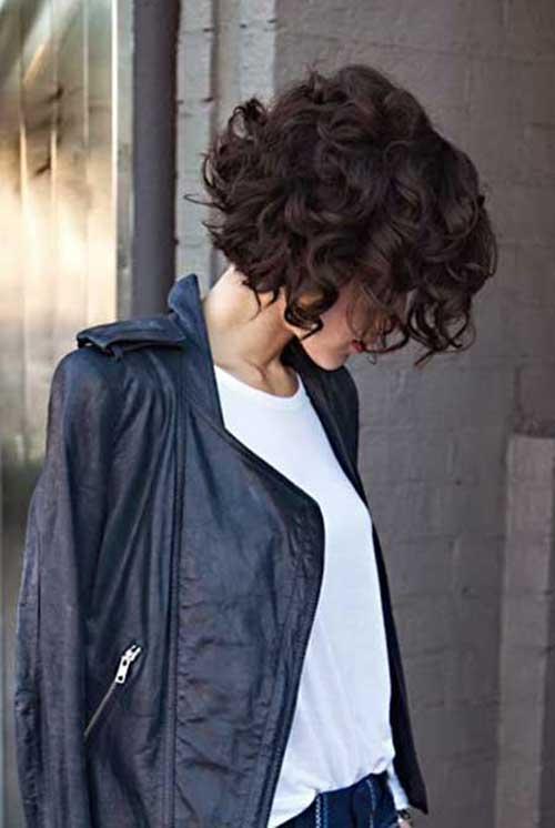 Curly Hair Dark Bob