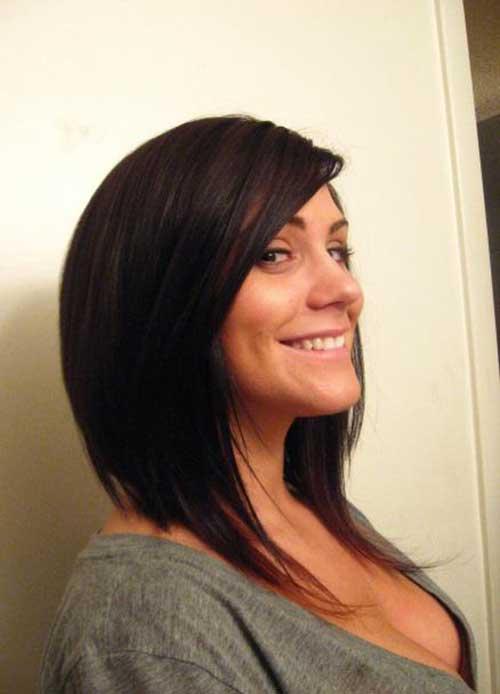 Asymmetrical A line Bob Hairstyles