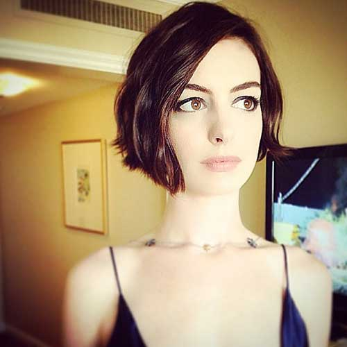 Anne Hathaway Hairstyles 2014-2015