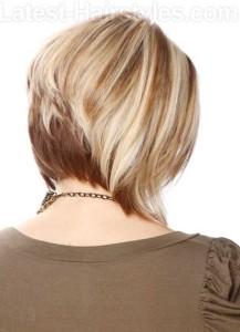 Back of Layered Medium Bob Hairstyles