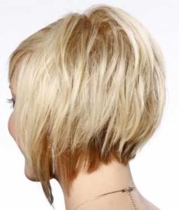 Blonde Layered Bob Hair Back View