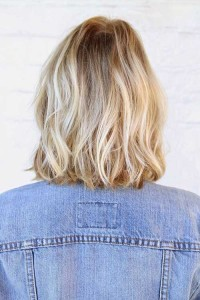 Blonde with Platinum Highlights Bob