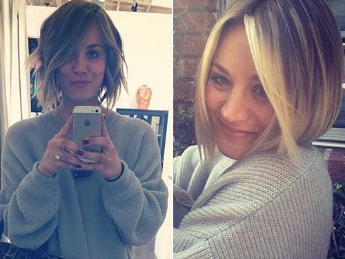 Kaley Cuoco Bob Haircuts 2014 Trends