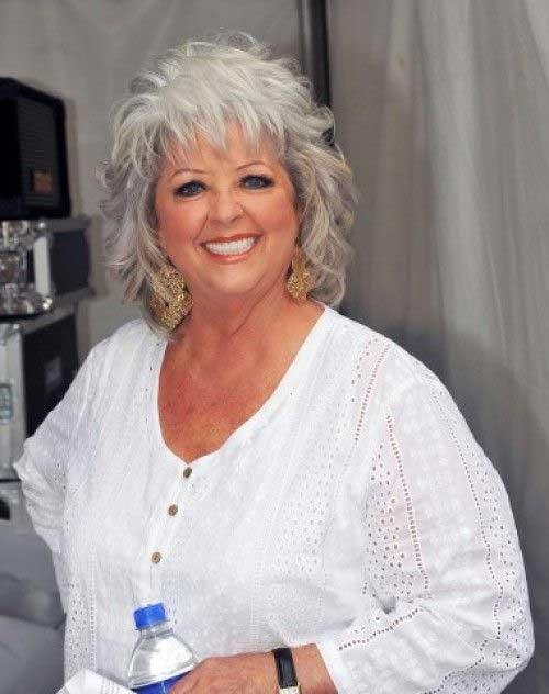 Bobs for Older Women Grey Hair