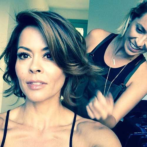 Brooke Burke New Bob Haircut