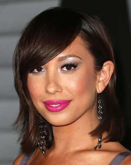Cheryl Burke Layered Hair