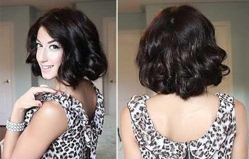 Curly Faux Bob Hair