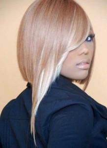 Cute Asymmetrical Long Bangs Hair for Black Women