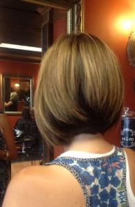 Cute Inverted Bob Haircut's Back View