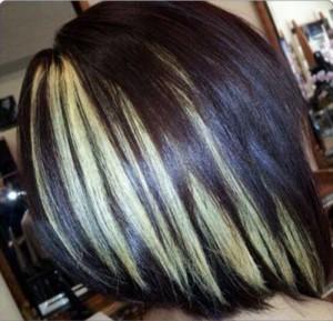 Dark Highlighted Hairstyles