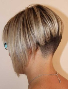 Edgy Bob with Shaved Style