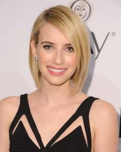 Emma Roberts Hair Cropped Bob