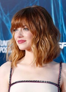 Emma Stone Celebrity Bob Hairstyles 2014-2015