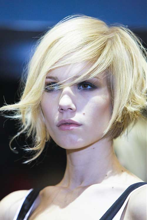 Blonde Funky Bob Hairstyles