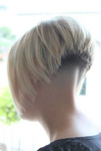 High Shaved Nape Short Bob
