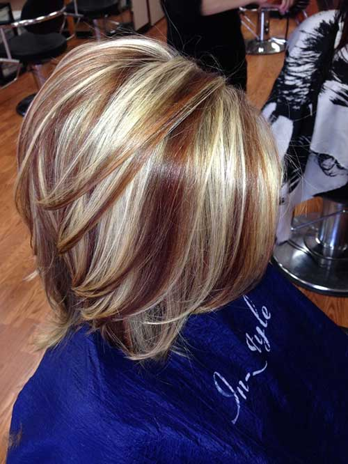 Nice Highlighted Bob Haircuts