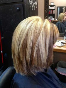 Highlighted Long Bob with Layers Hairstyles
