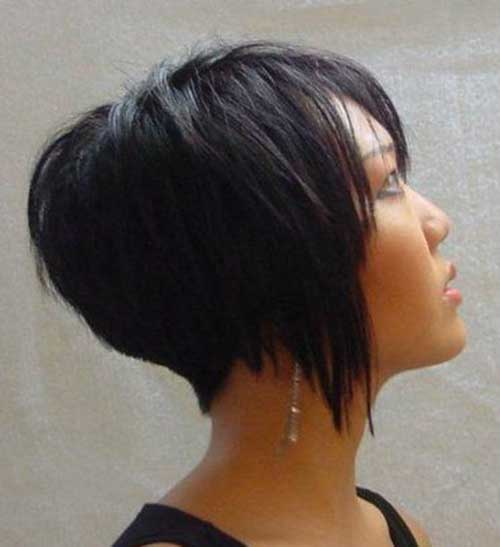 Inverted Thick Bob Hairstyles Back View