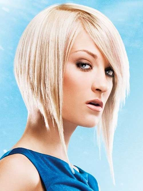 Inverted Funky Long Bob Hairstyles