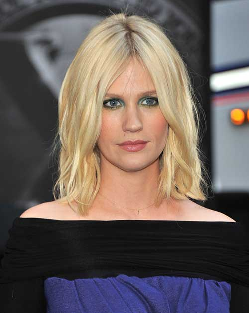 January Jones Long Bob Hairstyles