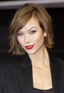 Karlie Kloss Side Bang Bob Hair