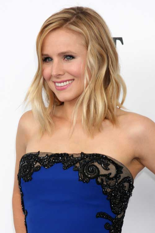 Kristen Bell Long Bob Haircut