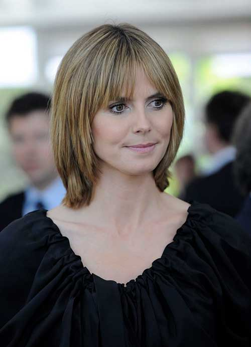 Layered Bob Hairstyles with Thin Bangs Hair