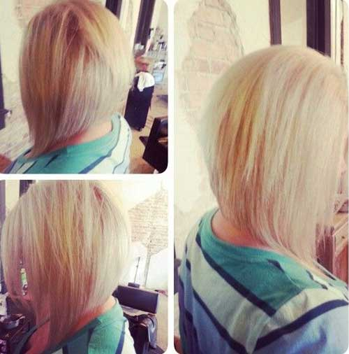 Long Angled Bob with Layers Hairstyles