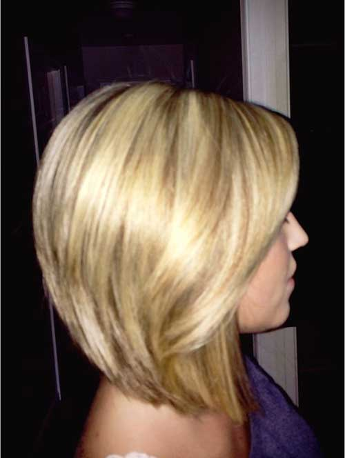 Long Angled Layered Bobs Style