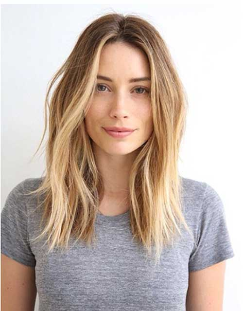 Long Blonde Ombre Bob with Layers