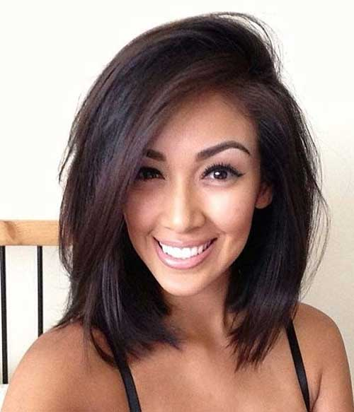 Long Trendy Bob for Dark Hair
