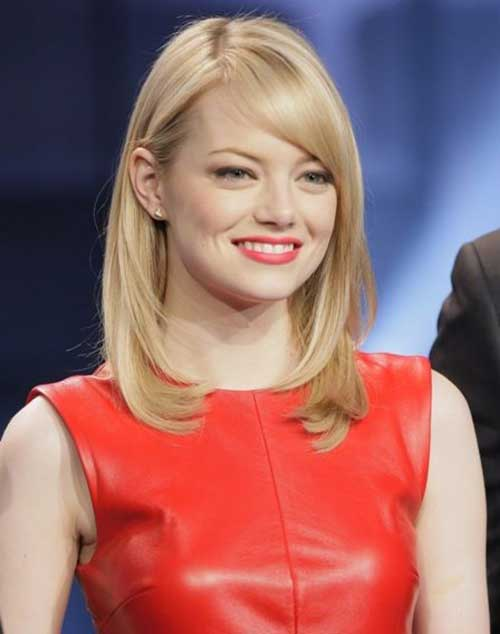 Emma Stone Long Bob for Fine Hair