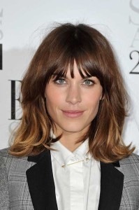 Alexa Chung Long Bobs for Thick Hair