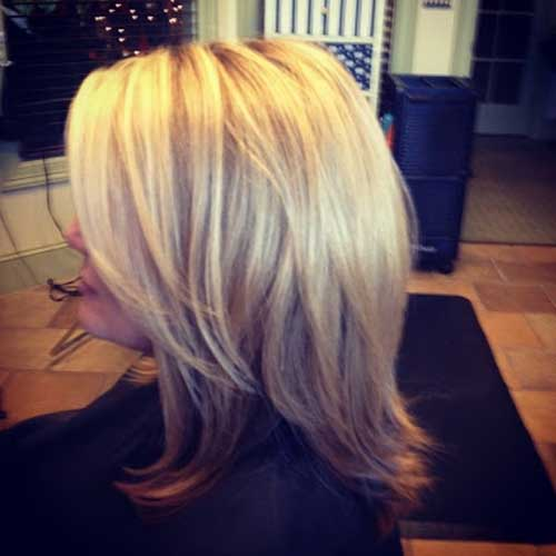 Long Layered Blonde Bob Haircut