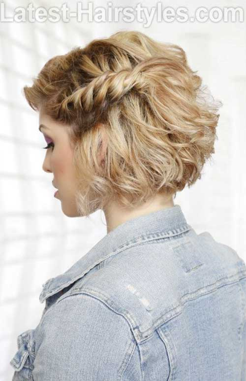Medium Bob Haircuts with Braid 2015