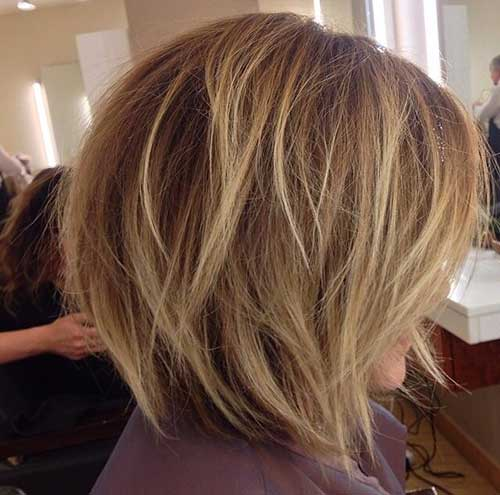 Messy Short Bob with Highlights