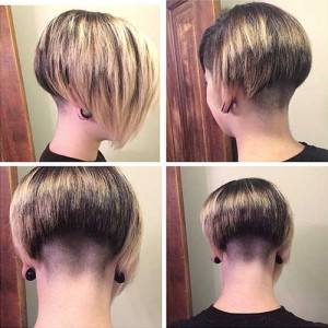 Nape Shaved Bob Hairstyles Ideas