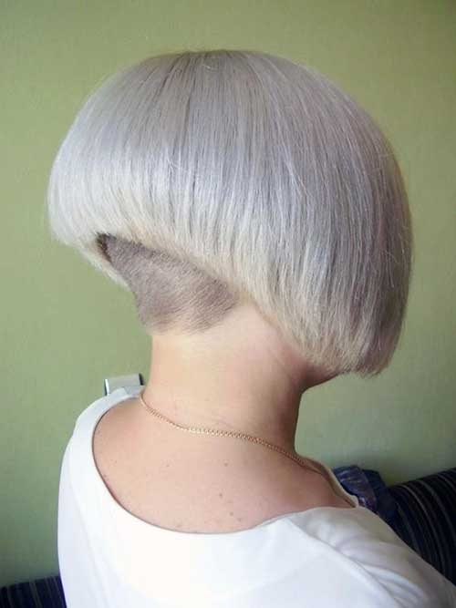 Nape Shaved Bob Hairstyles