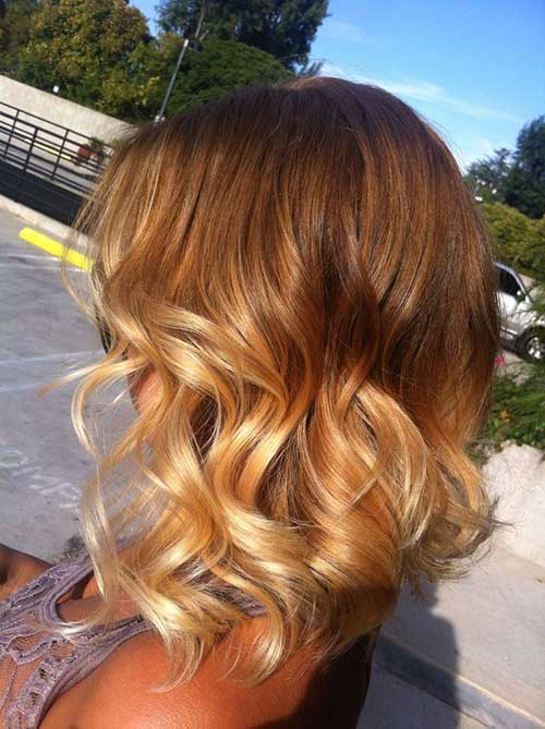 Ombre Short Hairdo Light Blonde