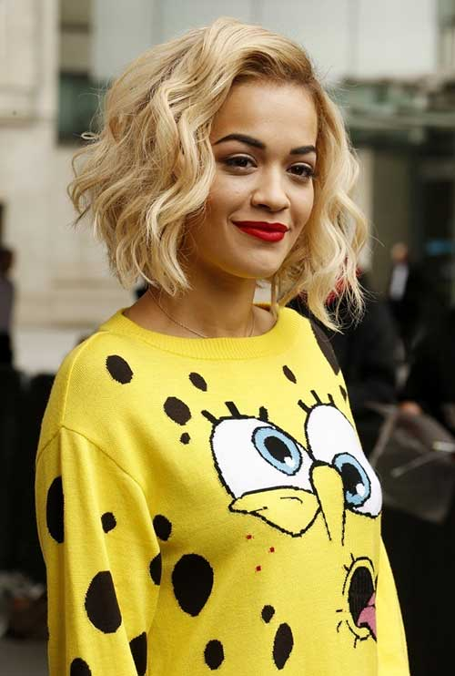 Rita Ora Haircut for Thick Hair