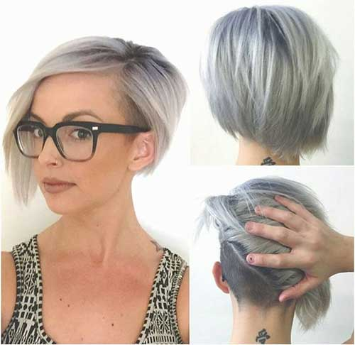 Shaved Bob Undercut Haircut