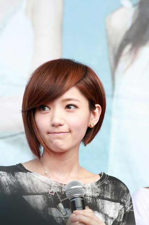 Short Asian Chinese Inverted Bob