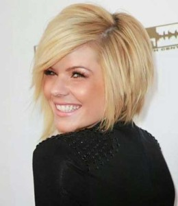 Best Short Bob Hairstyles with Side Swept Bangs 2015